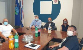 Predsjednik HOK – a g. Dragutin Ranogajec i glavna tajnica HOK-a  gđa. Mirela Lekić u radnom posjetu OK SMŽ